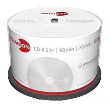 1000 X PRIMEON CD-R 80 Minuti 700MB 52X Cake Box silver +1 CD Verbatim 2761102