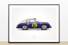 18 x 24 1953 356 La Carrera Panamericana #162 Illustration Poster Print