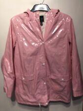 Women's Pvc Wet look Glanz Jacket Coat Nylon S Vinyl style Vtg Shiny