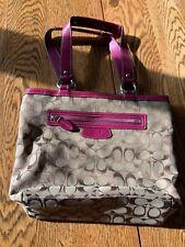 Coach Tan Pink Purse Handbag