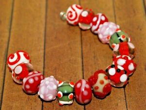 BEADS,GB-4RB,Large Lampwork,Royal,Glass,Murano Inspired,Golden Accents,12pcbag,Faux Murano,Glass Beads Vintage,Ethnic,Loose Beads Supplies