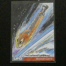 Gerry Anderson UFO UNIQUE 1:1  SKETCH CARD LUNAR MODULE  BY GRAHAM BLEATHMAN