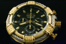 Invicta Men's 52MM BOLT Black Carbon Fiber Dial Silver Cable SS Poly Strap Watch