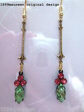 Art Deco Art Nouveau earrings 1920s vintage style earrings rare peridot crystal