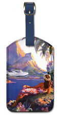 Leatherette Travel Luggage Tag Baggage Label - South Seas by Paul G. Lawler