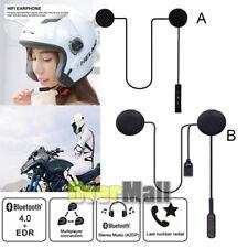 2020 Wireless BT Bluetooth Motorcycle Helmet Headset MP3 Microphone Speaker USA