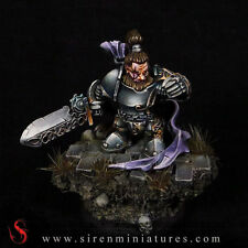 Medrin - Fantasy dwarf miniature in 32 mm scale for tabletop and board games