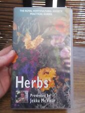 Royal Horticultural Society Practical Guides Herbs  VHS Video Tape (NEW)