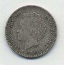 Spain - España 50 centimos 1894 KM 703 F+ Coin Circulated