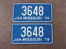1979 MISSOURI License Plate Pair 3648