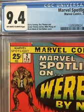 💎🔥 MARVEL SPOTLIGHT #2 CGC 9.4 RARE 1st WEREWOLF BY NIGHT PERFECT CENTERING