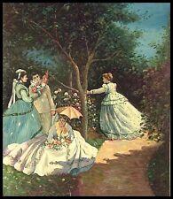 """* Femmes dans le jardin, 24""""x20"""" peinture à l'huile sur toile"""