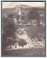 Algérie, Tiaret (ولاية تيارت), La Mosquée et Sidi Khaled  Vintage citrate print.
