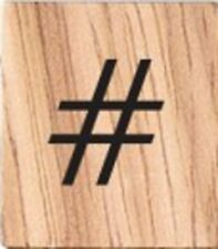 INDIVIDUAL WOOD SCRABBLE TILES! 8 FOR $2, OR 25 CENTS PER TILE # Hashtag Symbol
