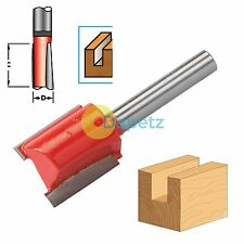 "Shank Straight Metric Cutter Router Bits 1/4"" Woodwork 20mm Long x 18mm dia"