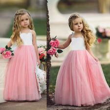 AU Canis Girls Princess Party Wedding Prom Bridesmaid Dress Tutu Halter Dresses