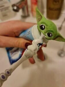 Hand Painted Baby Yoda / Grogu Mandalorian Toothpaste Topper Star Wars