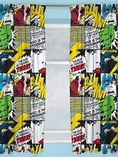 Official Marvel Comics Curtains 'Scribble' Design Children's Bedroom 54 inch