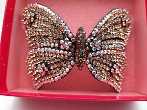 Vogue Titanic Rose/'s Tíbet Plata Hermosa mariposa peine de Horquilla Cabello Clip