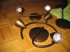 Philips myLiving Deckenleuchte 2 Flammig LED braun Ledino Maple bronziert