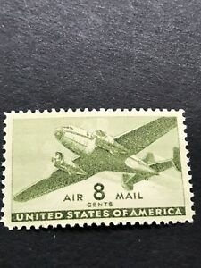 Scott #C26 Twin-Motored Transport Plane 08c - 1944 - Air Mail - Mint NH Single
