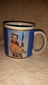 1990 Republic Westerns JOHN WAYNE The Fighting Kentuckian Cup Mug The Duke Hero