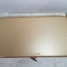 Estee Lauder Light Gold Hard Makeup & Jewelry Case divided compartment Mirror