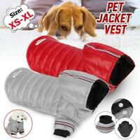 Dog Warm Clothes Pet Jacket Thick Padded Vest Winter Coat Waterproof Warmer