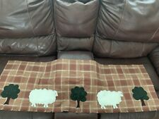 Primitive Country Cotton Sheep Tree Valance Curtain - One