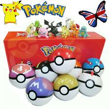 8Pcs Pokeball Elf Ball Set Pikachu Action Figures Kid Toy Christmas Gift Collect