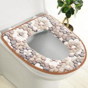 Bathroom Toilet Seat Closestool Washable Soft Warmer Mat Cover Pad Cushion HC