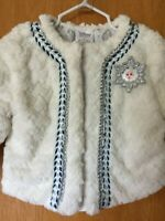 Disney Frozen Elsa Jacket Coat Girls Size 3T White Faux Fur