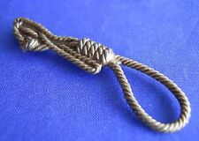 Clue Master Detective Weapon Rope Noose Brass Replacement Part Game Pieces Token