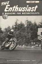 1954 August - The Enthusiast - Vintage Harley-Davidson Motorcycle Magazine