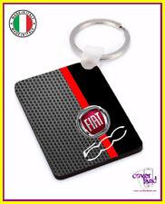 Portachiavi, portachiave con anello FIAT 500 CARBON - Keychain