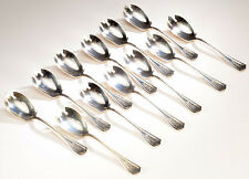 12 Estate WALLACE Sterling Silver Ice Cream Forks Spoons - 245 gms.
