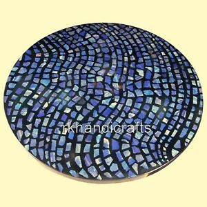 48 Inches Marble Reception Table Top Blue Stone Dining table for Elegant Pattern