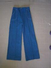 "Vintage Stretch Trousers - Age Teens - 26"" Inside Leg - Blue Marl - Zip - New"
