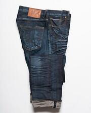 PRPS Goods & Co. $248 Dark Blue Faded Selvedge Denim Barracuda Fit Jeans 32