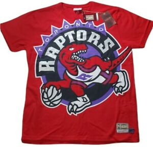 Men's XL Mitchell & Ness NBA Big Face Short Sleeve Tee Toronto Raptors Red NWT