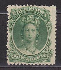 Nova Scotia 1860 Queen Victoria 8 1/2 Cent Green Hinged