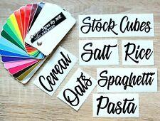 Kitchen Storage Jar Labels Pasta Rice Oats  Stickers Vinyl Decals Adhesive #1 BL