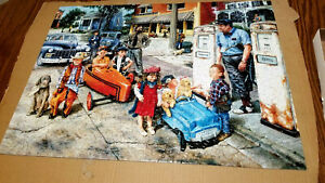 """Suns out 500 PC puzzle """"Gassing Up"""" 18"""" x24"""""""