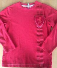 51bb7221d713 Ferrari Boys Pullover Shirt Red Puma Size Small Cotton Logo Scuderia