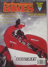 Performance Bikes magazine October 1989 featuring Ducati, Morini