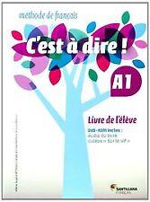 (14).C'EST A DIRE A1 LIVRE ELEVE +DVD. ENVÍO URGENTE (ESPAÑA)