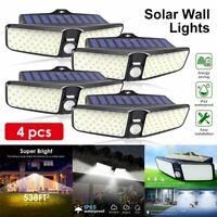100 LED Dual Solar Lamp Outdoor Garden Yard Waterproof Motion Sensor Wall Light