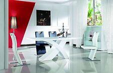 Esszimmertisch 160-220x90 Designertisch Esstisch Tisch Modern Hochglanz Weiß