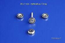 4x Neodym Topfmagnete 20x7mm 7,5kg Flachtopfmagnet starke Magnete mit Bohrung