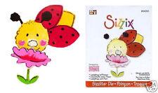 Sizzix Sizzlits Die LADYBUG w/ FLOWER Garden Spring
